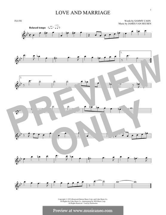 Love and Marriage (Frank Sinatra): para flauta by Jimmy Van Heusen