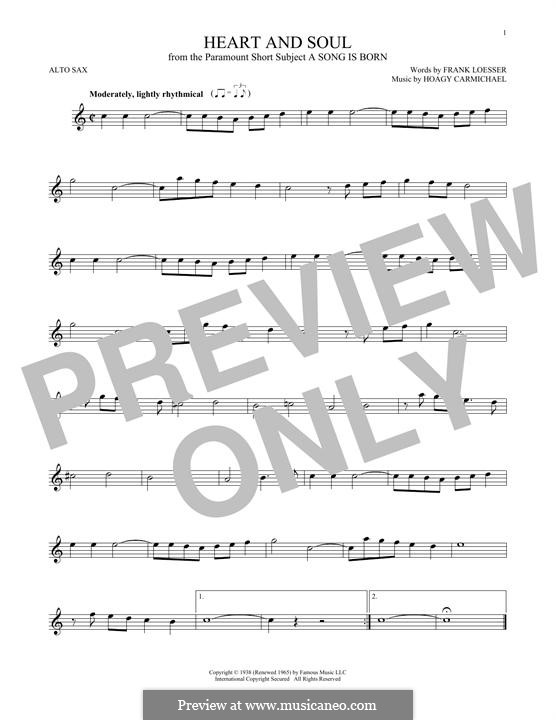 Heart and Soul: para Saxofone Alto by Hoagy Carmichael