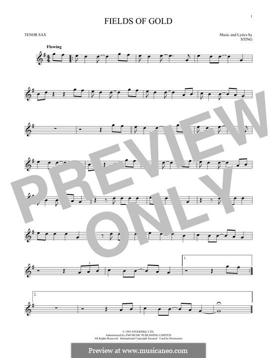 Fields of Gold: para saxofone tenor by Sting