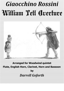 Overture: For woodwind quintet by Gioacchino Rossini