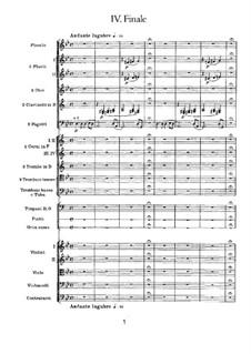 Symphony No.1 in G Minor 'Winter Daydreams', TH 24 Op.13: Movimento IV by Pyotr Tchaikovsky