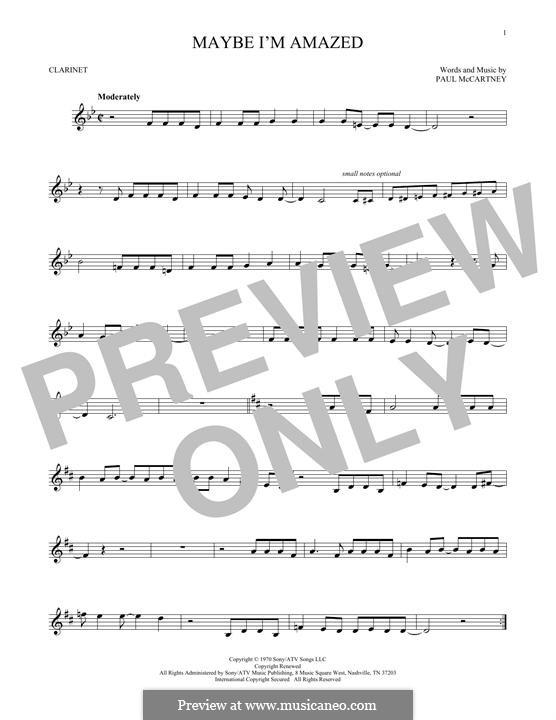 Maybe I'm Amazed: para clarinete by Paul McCartney