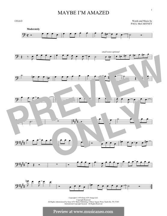 Maybe I'm Amazed: para violoncelo by Paul McCartney