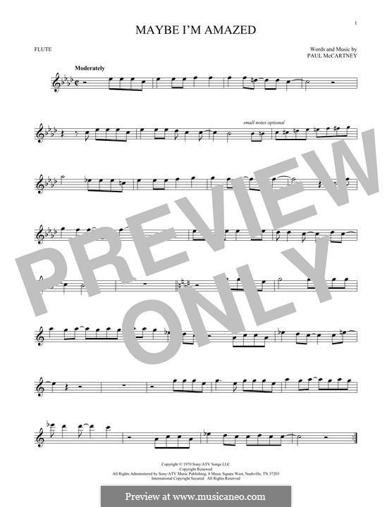 Maybe I'm Amazed: para flauta by Paul McCartney