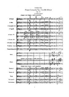 Concerto for Piano and Orchestra No.1 in B Flat Minor, TH 55 Op.23: movimento I by Pyotr Tchaikovsky