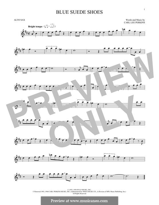 Blue Suede Shoes (Elvis Presley): para Saxofone Alto by Carl Lee Perkins