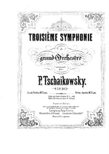 Symphony No.3 in D Major 'Polish', TH 26 Op.29: para piano de quadro mãos by Pyotr Tchaikovsky