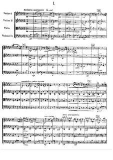 String Quartet No.3 in E Flat Major, TH 113 Op.30: Partitura completa by Pyotr Tchaikovsky