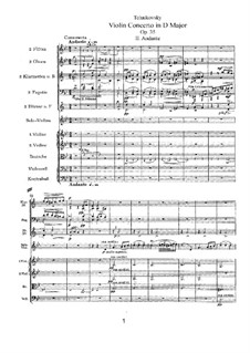 Concerto for Violin and Orchestra in D Major, TH 59 Op.35: movimento II by Pyotr Tchaikovsky