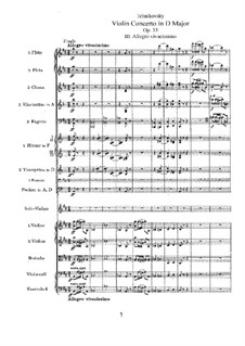 Concerto for Violin and Orchestra in D Major, TH 59 Op.35: movimento III by Pyotr Tchaikovsky
