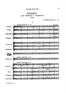 Concerto for Violin and Orchestra in D Major, TH 59 Op.35: Partitura completa by Pyotr Tchaikovsky