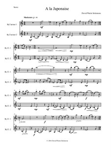 A la japonaise: para duas clarinetas by David W Solomons