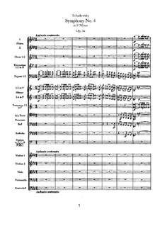 Symphony No.4 in F Minor, TH 27 Op.36: movimento I by Pyotr Tchaikovsky