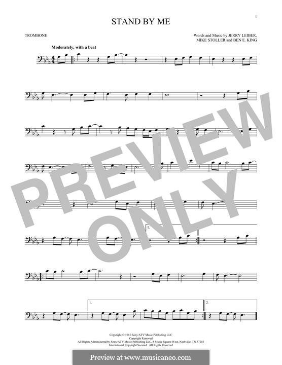 Stand By Me: para trombone by Ben E. King, Jerry Leiber, Mike Stoller
