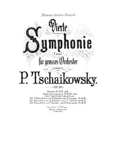 Symphony No.4 in F Minor, TH 27 Op.36: para piano de quadro mãos by Pyotr Tchaikovsky