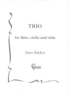 Trio for flute, violin and viola: partitura by Hans Bakker