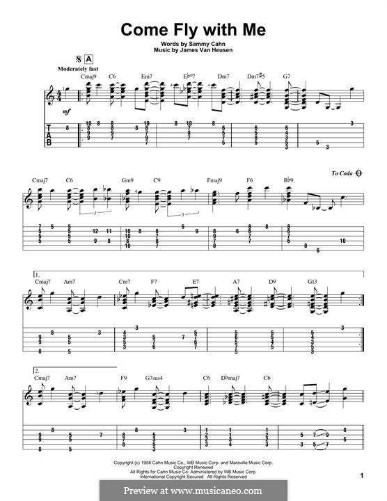 Come Fly with Me (Frank Sinatra): Para guitarra com guia by Jimmy Van Heusen