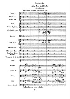 Suite No.2 in C Major, TH 32 Op.53: Partitura completa by Pyotr Tchaikovsky