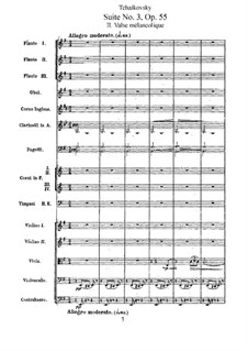 Suite No.3 in G Major, TH 33 Op.55: movimento II by Pyotr Tchaikovsky