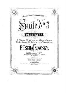 Suite No.3 in G Major, TH 33 Op.55: para piano de quadro mãos by Pyotr Tchaikovsky