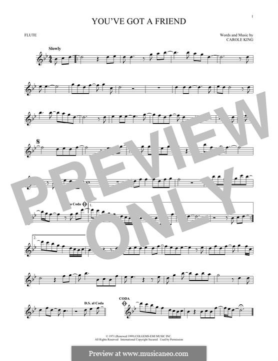 You've Got a Friend: para flauta by Carole King