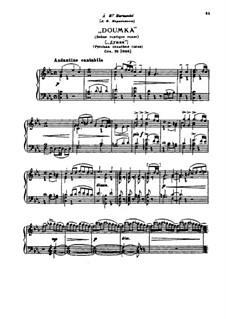 Dumka. Russian Rustic Scene, TH 145 Op.59: Para Piano by Pyotr Tchaikovsky