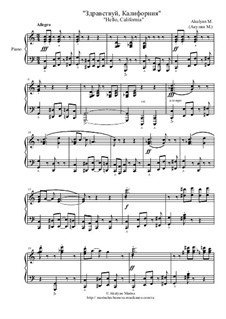 Здравствуй, Калифорния, Op.10: Здравствуй, Калифорния by Marina Akulyan