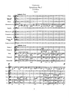 Movement I: partitura completa by Pyotr Tchaikovsky