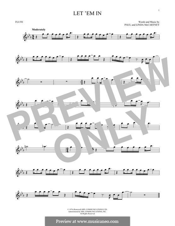 Let 'Em in (Wings): para flauta by Linda McCartney, Paul McCartney