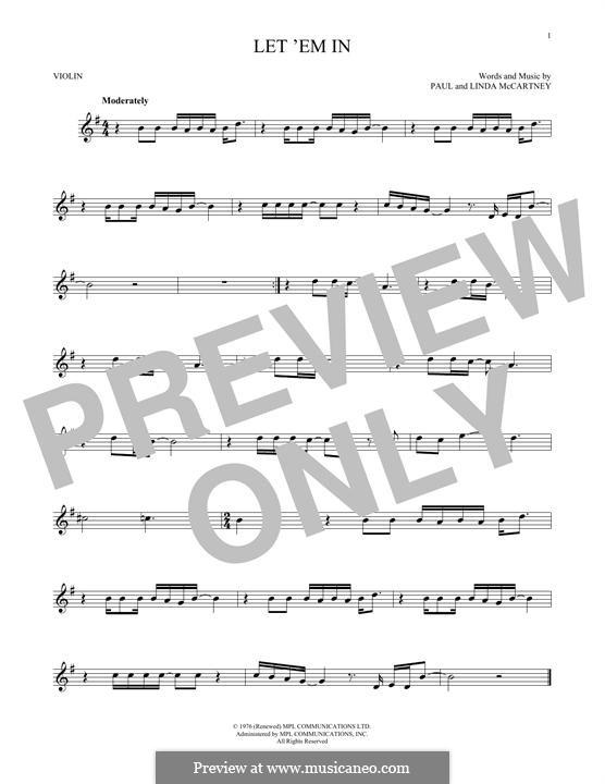 Let 'Em in (Wings): para violino by Linda McCartney, Paul McCartney