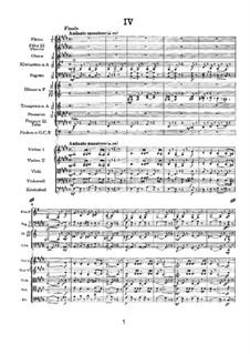 Movement IV: partitura completa by Pyotr Tchaikovsky
