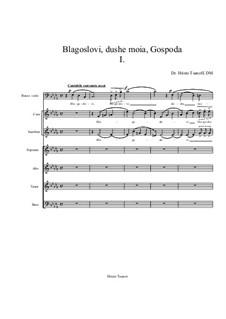 Blagoslovi, dushe moia, Gospoda: movimento I by Hristo Tsanov