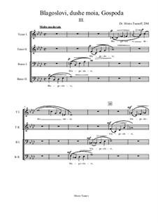 Blagoslovi, dushe moia, Gospoda: movimento III by Hristo Tsanov