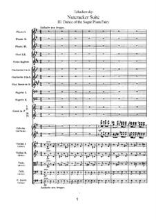 No.3 Dance of the Sugar-Plum Fairy: partitura completa by Pyotr Tchaikovsky