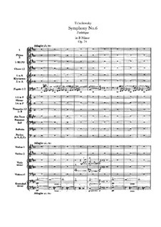 Movement I: partitura completa by Pyotr Tchaikovsky