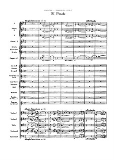 Movement IV: partitura completa by Pyotr Tchaikovsky