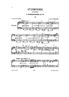 Complete Movements: For two pianos – piano II part by Pyotr Tchaikovsky