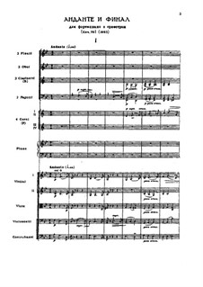 Andante and Finale for Piano and Orchestra, TH 241 Op.79: No.1 Andante by Pyotr Tchaikovsky
