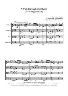 A Walk Through The Ruins: para quartetos de cordas by Paul Cranford