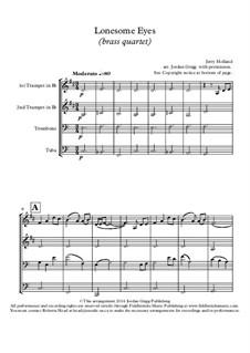 Lonesome Eyes: para quarteto de bronze by Jerry Holland