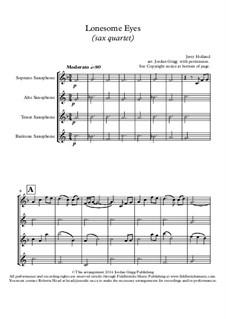 Lonesome Eyes: para quarteto de saxofone by Jerry Holland