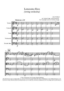 Lonesome Eyes: para orquetra de cordas by Jerry Holland