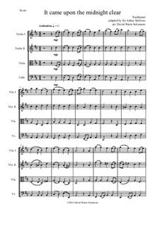 It came upon the midnight clear: para quartetos de cordas by folklore