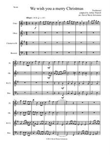 We Wish You a Merry Christmas: Para quarteto de sopro by folklore