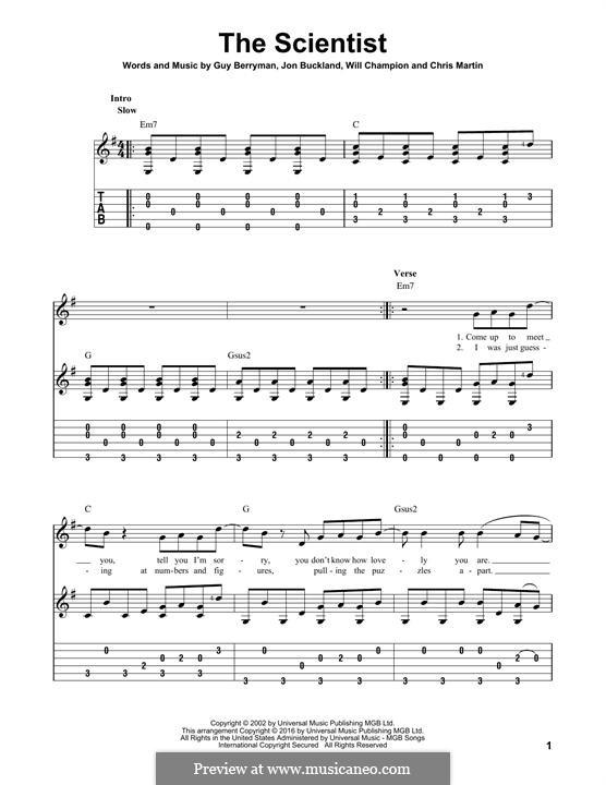 The Scientist (Coldplay): Para guitarra com guia by Chris Martin, Guy Berryman, Jonny Buckland, Will Champion