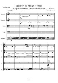 Триптих по Максу Нордау, Op.6: Триптих по Максу Нордау by Ivan Tolstov