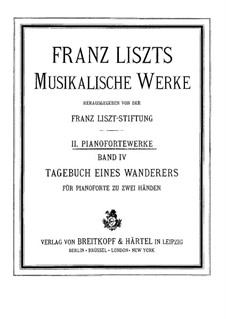 Album of Wanderer, S.156: set completo by Franz Liszt