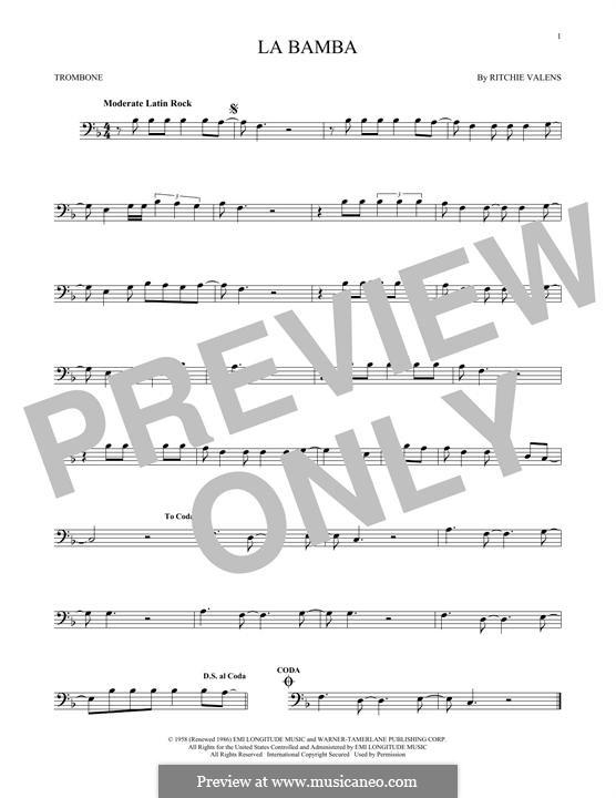 La Bamba: para trombone by folklore, Ritchie Valens