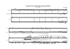 Grande trio No.2: For viola, bass clarinet and piano, MVWV 350b by Maurice Verheul