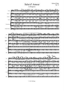 Salut d'amour (Love's Greeting), Op.12: para orquetra de cordas by Edward Elgar